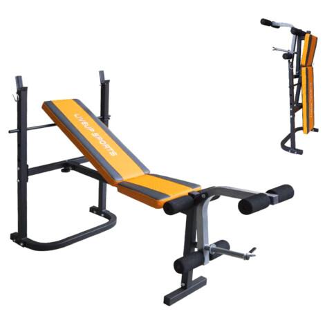 Fitness Weight Bench, Black/Orange 1