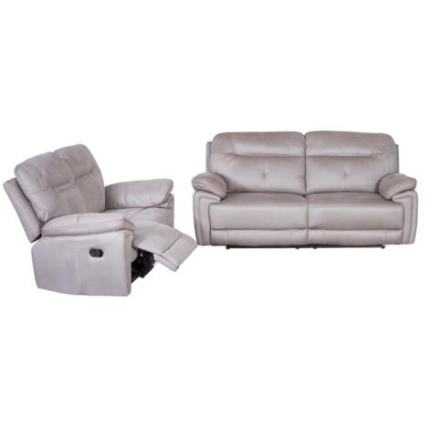 Small Fabric Recliner Sofa; 5 Seater (3RR+2RR), Mist Grey 1