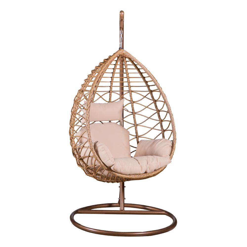 Garden Swing Basket With Cushion; 90x60x118cm #1962