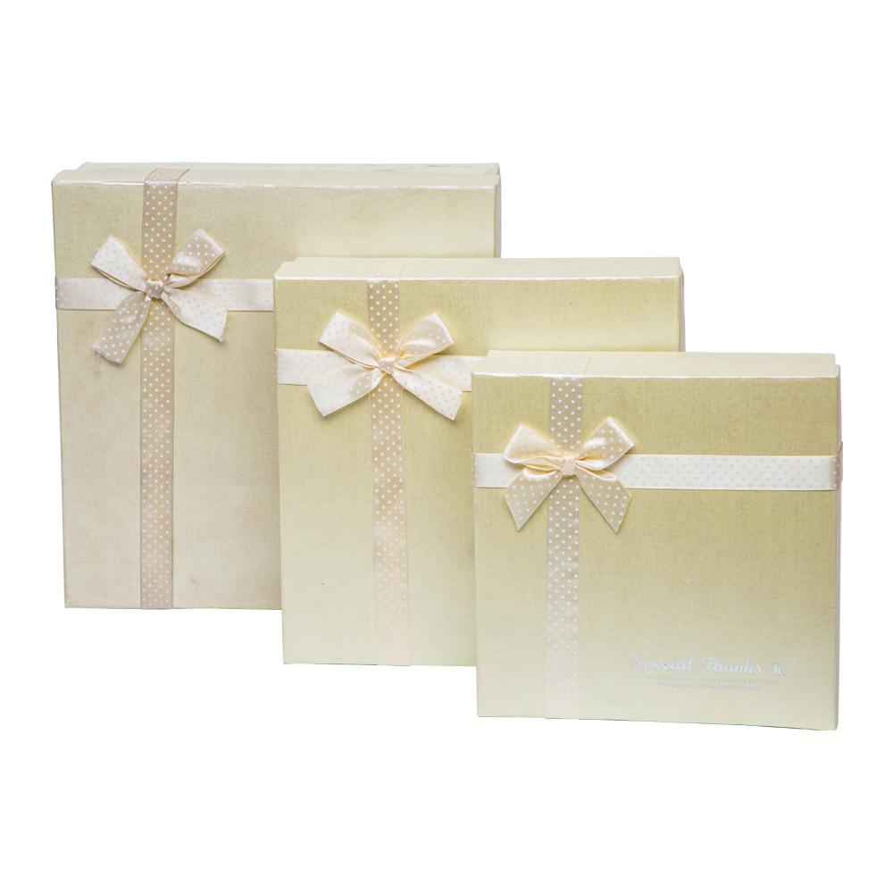 Gift Box With Ribbon Set: 3pc #0813105 1