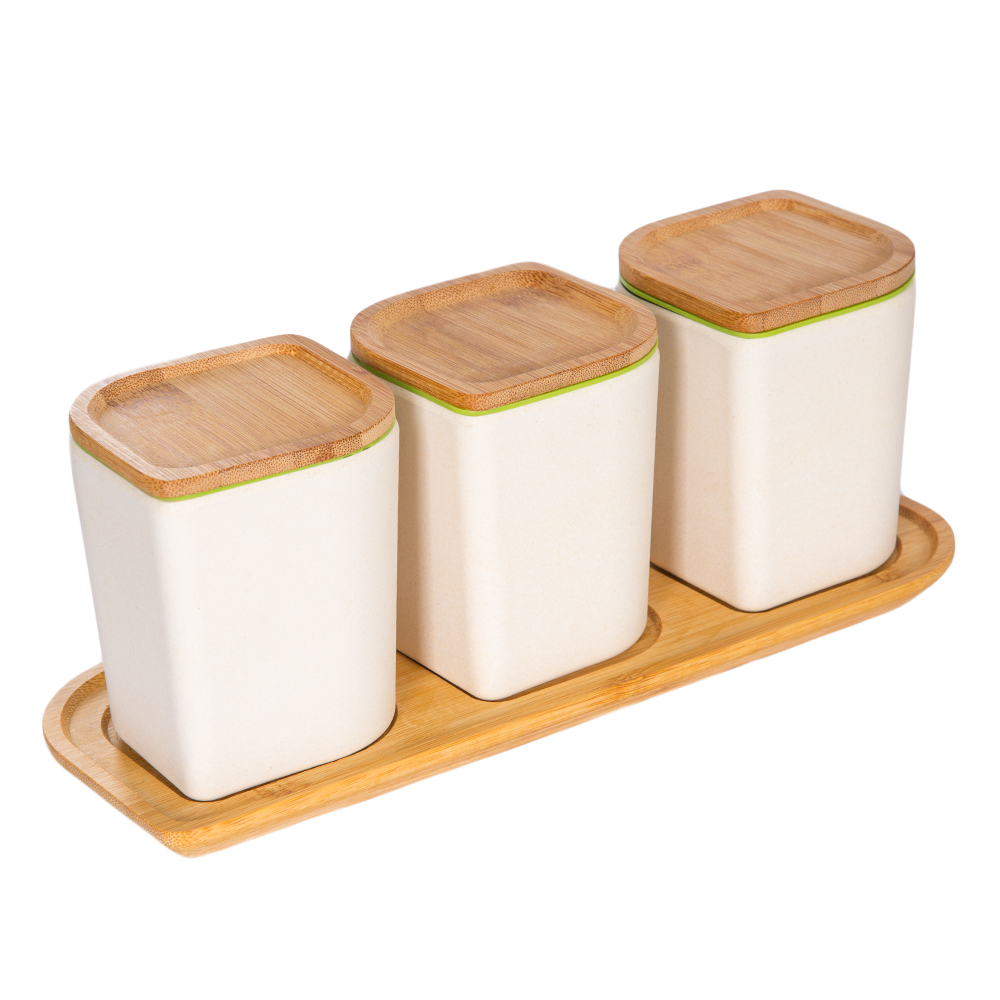 Bamboo Fibre Canister Set; 3pc Ref.K50033-A
