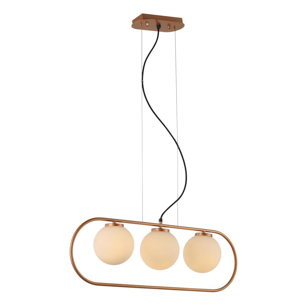 Domus: Pendant Lamp: Satin Rose Gold/Opal Matt, E14 3x40W #V38050/3P/SRG/700 1