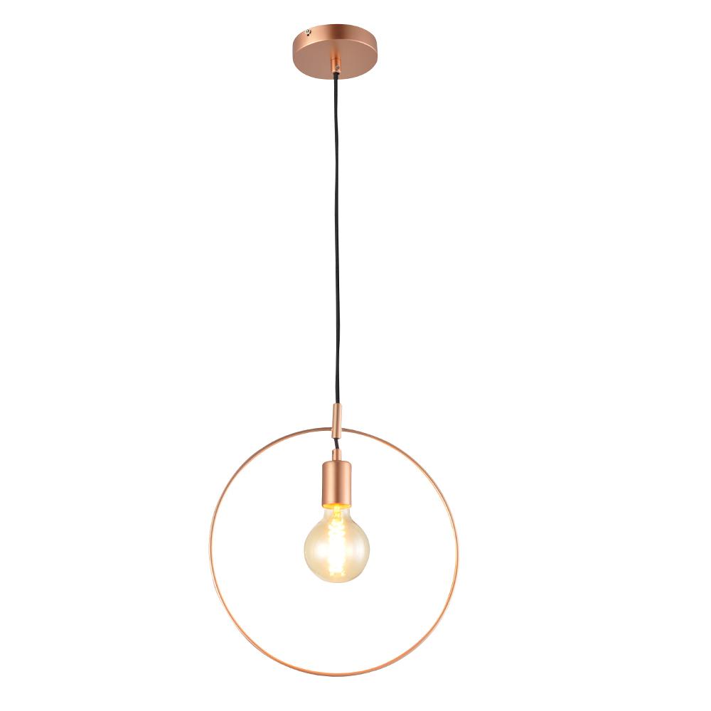 Domus: Pendant Lamp: Satin Rose Gold, E27 1x40W #V35181/1P/SRG/350 1