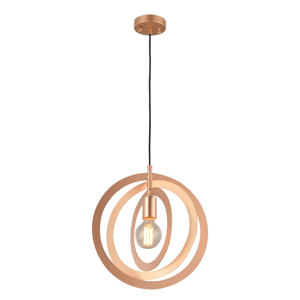 Domus: Pendant Lamp: E27 1x40W #V37130/1P/BK/SRG/350 1