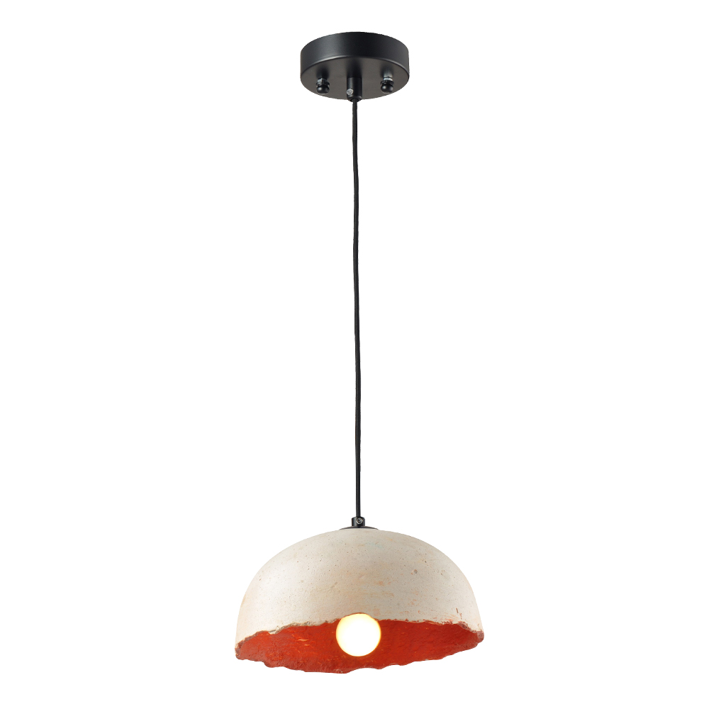 Domus: Pendant Lamp: White/Gold, E27 1x40W #V37219/1P/WH+GD/250 1
