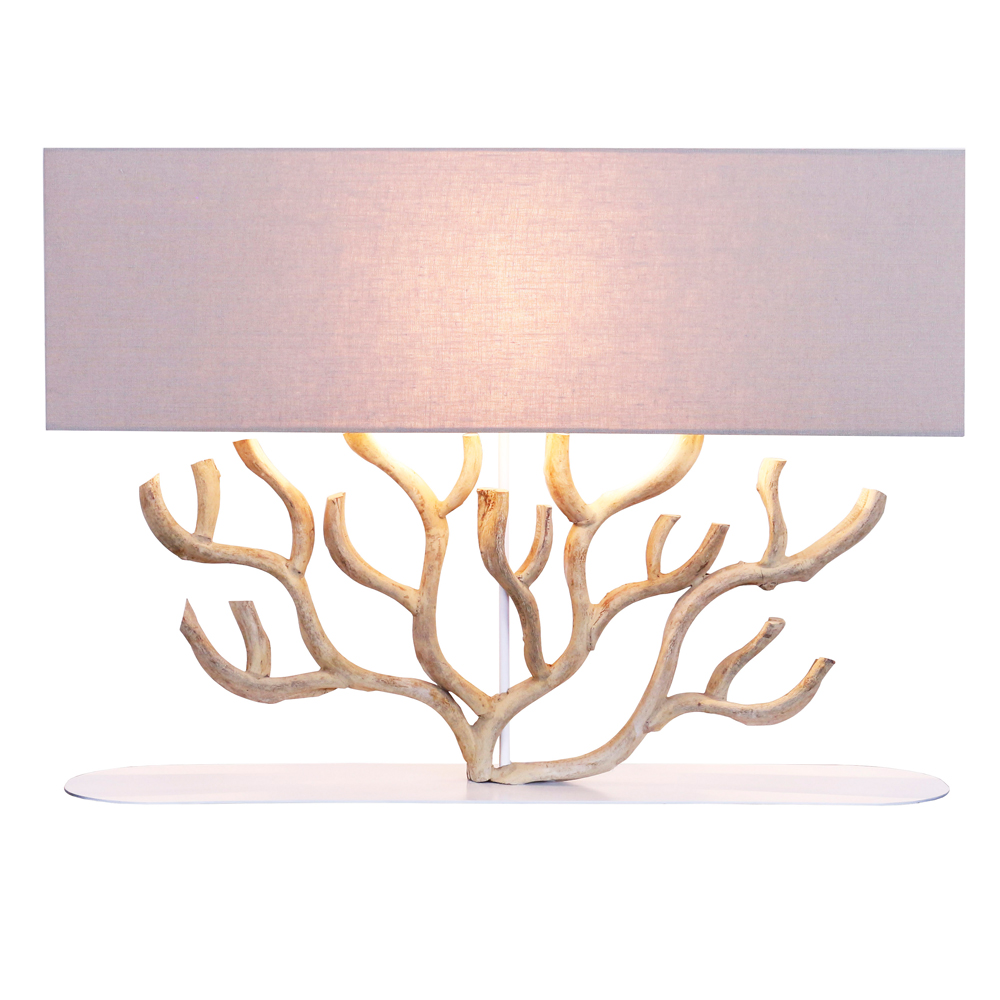 Fire Coral Table Lamp With Metal Base; 80x20x42cm #211301/590035 1