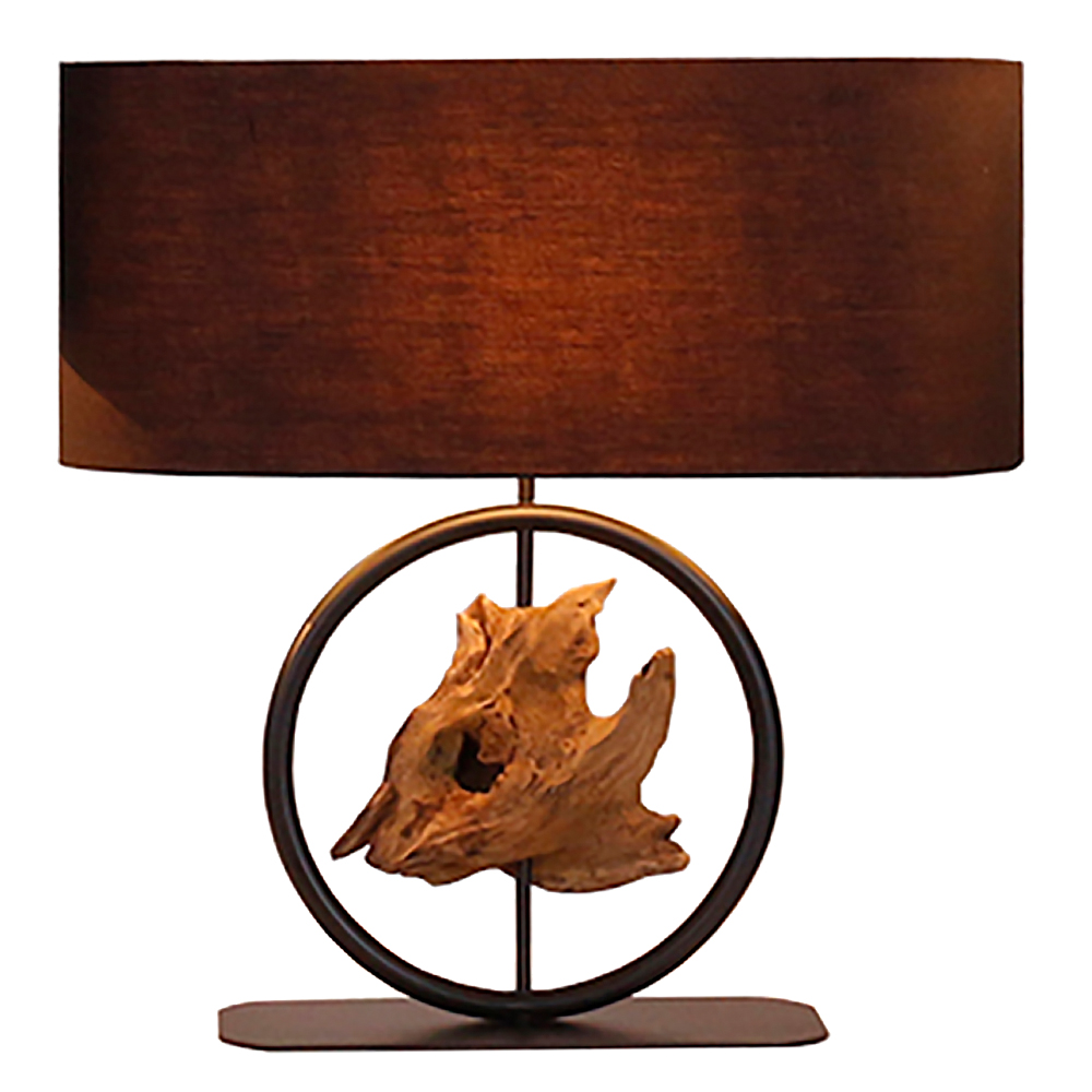 Gyro Table Lamp With Oval Lamp Shade; 35x15x42cm #211182/590032 1