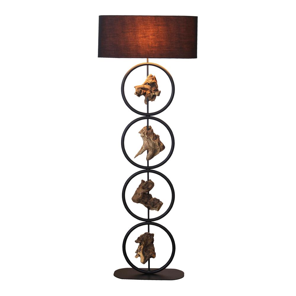 Gyro Floor Lamp With Oval Lamp Shade; 40x20x131cm #211168/590032 1
