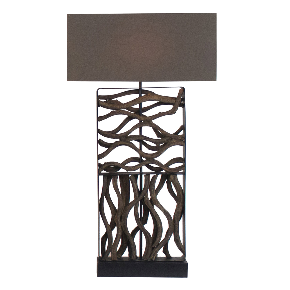 Movement Lamp With Rectangle Lamp Shade; 31x11x75