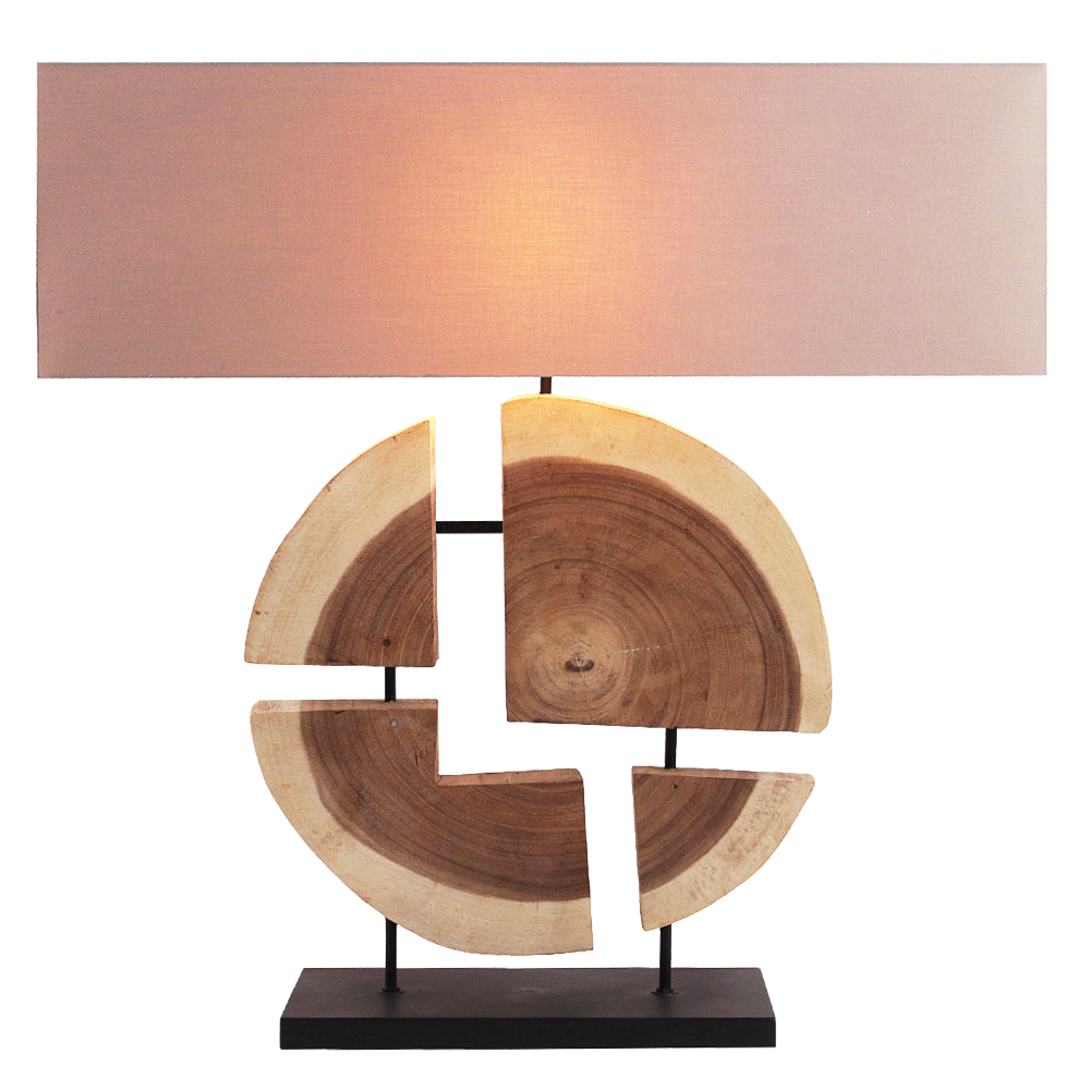 Geomatic Line Table Lamp With Rectangular Lamp Shade; 47x20x62