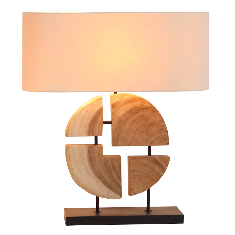 Geomatic Line Table Lamp With Rectangular Lamp Shade; 35x15x48