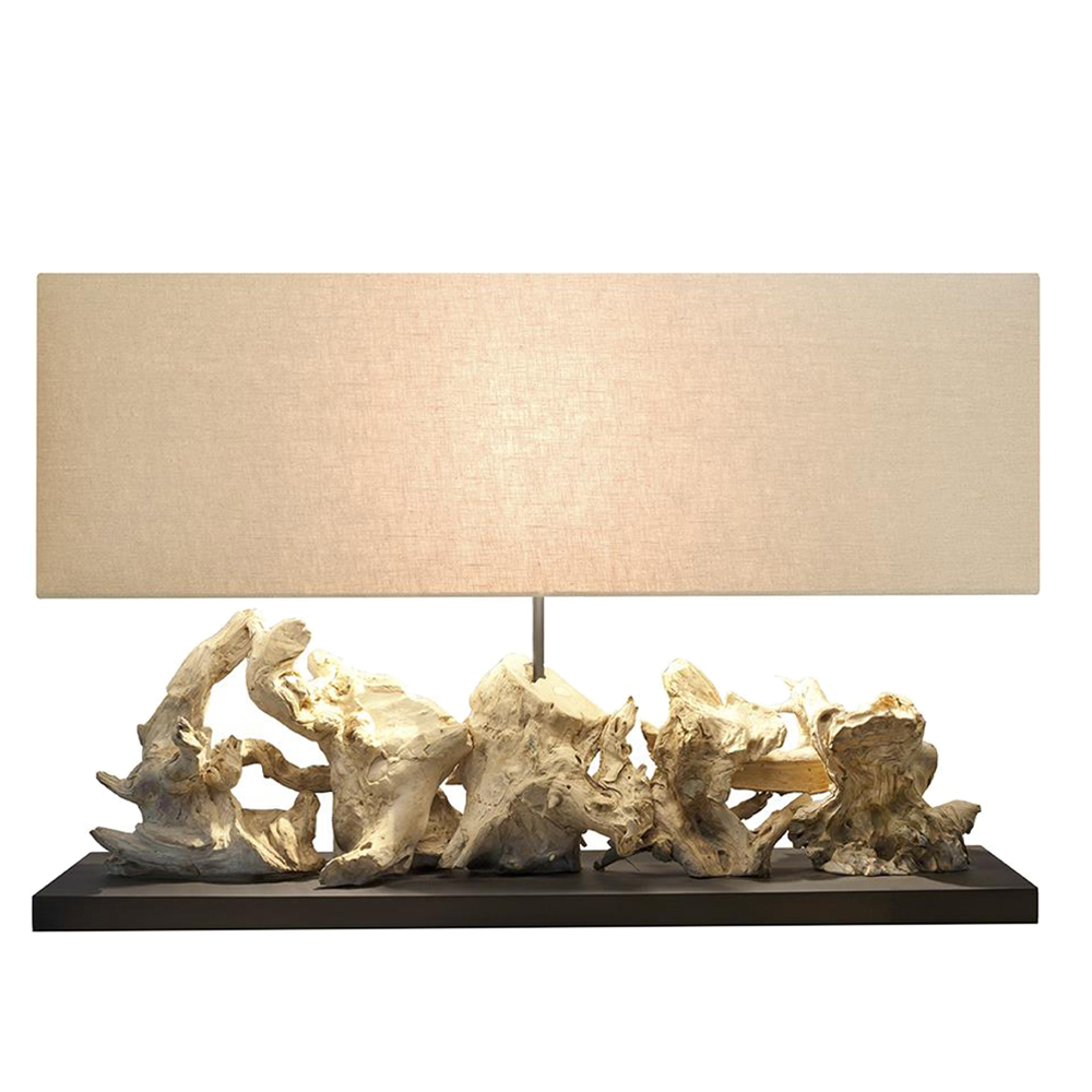 Aragon Large Lamp With Rectangular Lamp Shade; 80x20x35cm #210280/590035 1