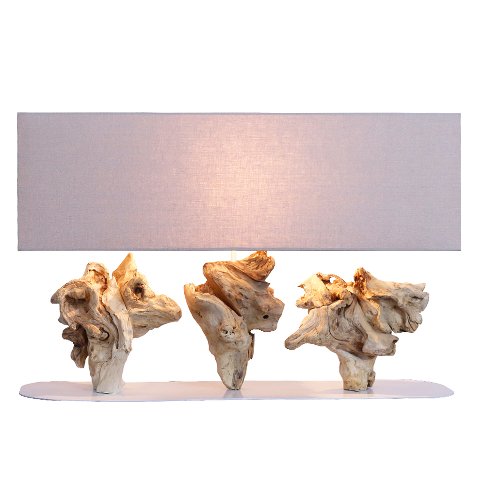 Roots Garden Table Lamp With Rectangular Lamp Shade; 80x20x41cm #211298/590035 1