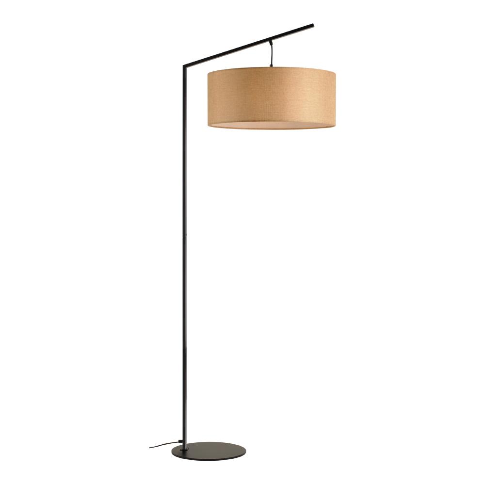Domus: Floor Lamp: Black/Beige Linen, E27x1 #V40022/1F/BE/500 1
