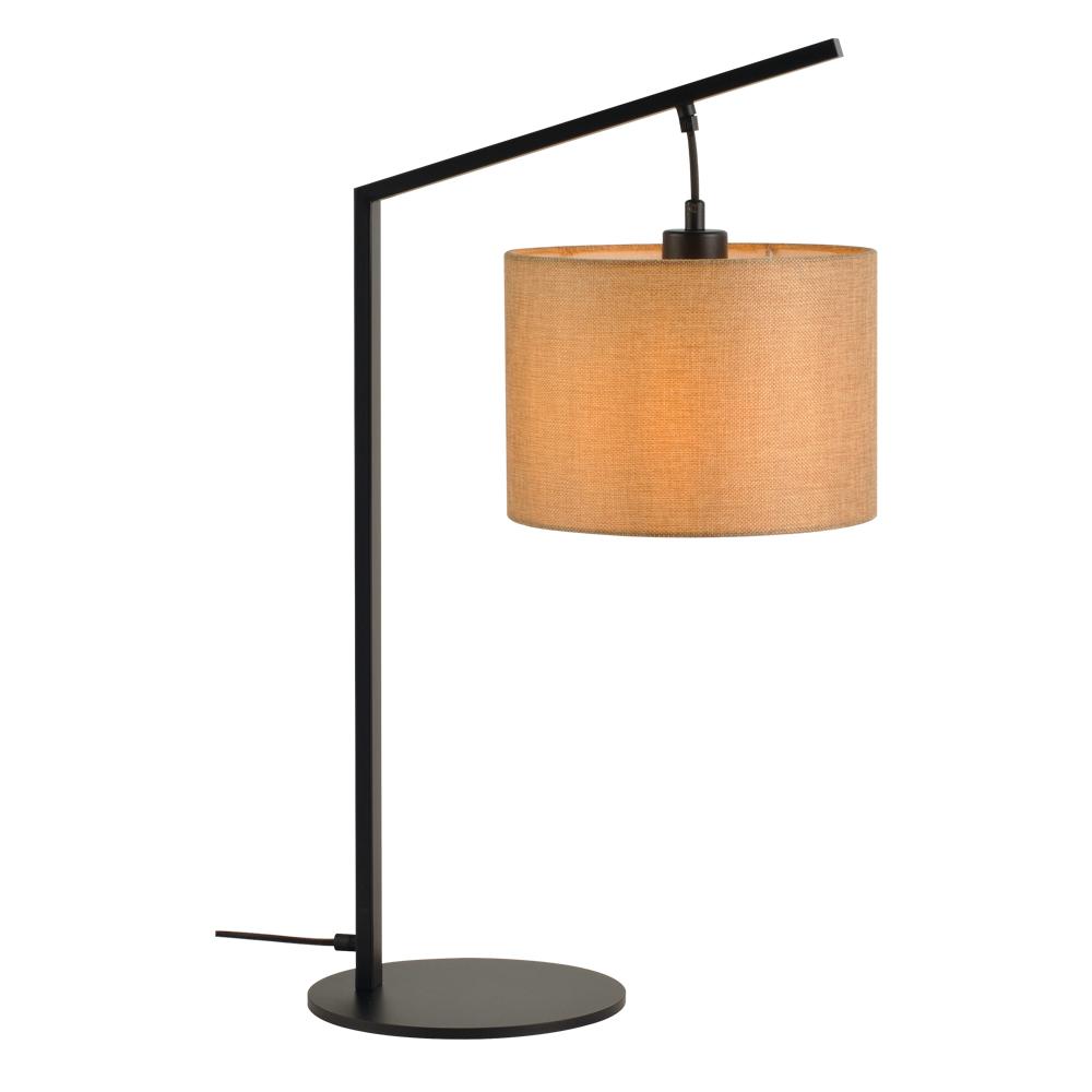 Domus: Table Lamp: Black/Beige Linen, E27x1 #V40022/1T/BE/250 1