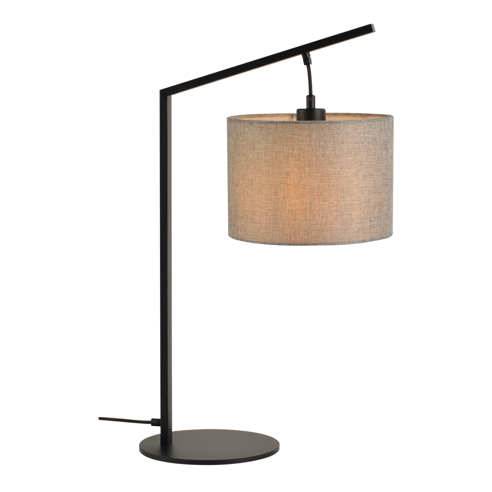 Domus: Table Lamp: Black/Grey Linen, E27x1 #V40022/1T/GY/250 1