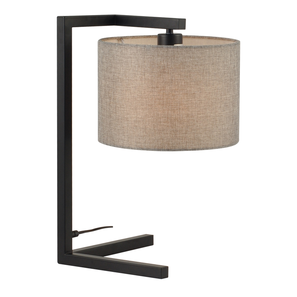 Domus: Table Lamp: Black/Grey Linen, E27x1 #V40012/1T/GY/250 1