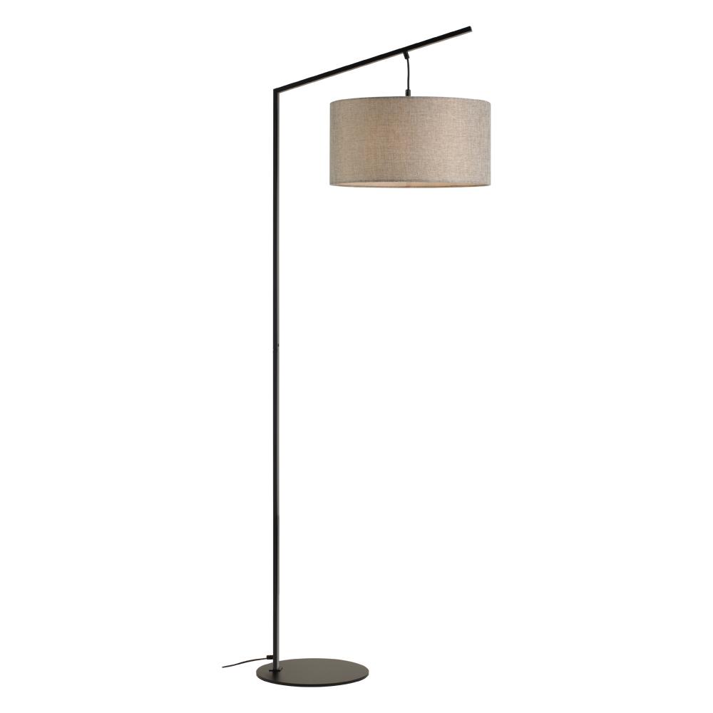 Domus: Floor Lamp: Black/Grey Linen, E27x1 #V40012/1F/GY/400 1