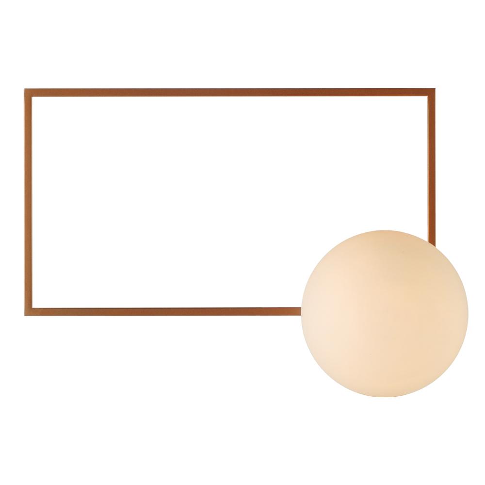 Domus: Wall Lamp: Satin Rose Gold/Opal Matt, E14x1 #V38045/1W/SRG/390 1