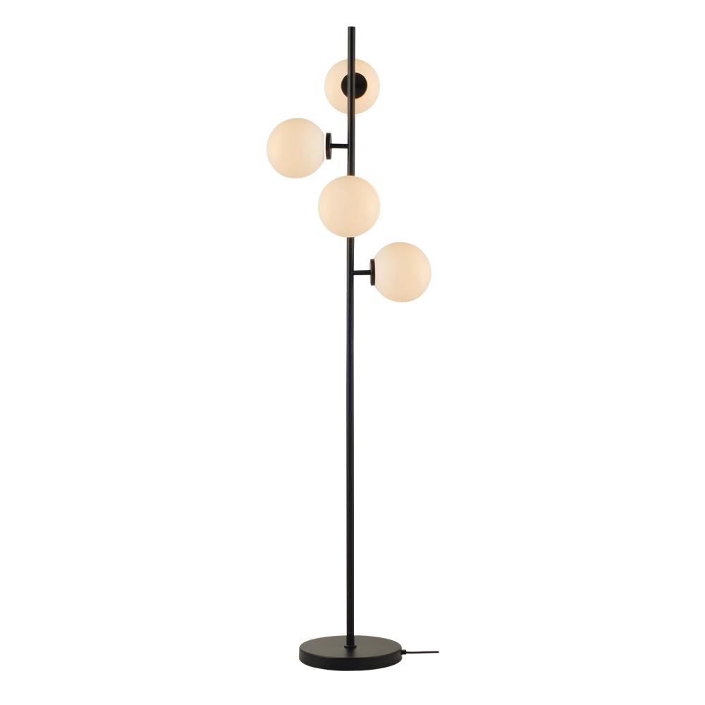 Domus: Pendant Lamp: Black/Opal Matt, E14x4 #V39113/4F/BK+OM/430 1