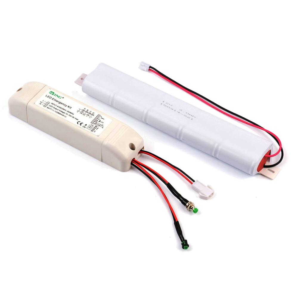 KUNSEN: Emergency Kit For LED Tube Lights, 12V 2500Mah: Inverter+ Battery+Test Switch+LED Indicator 1