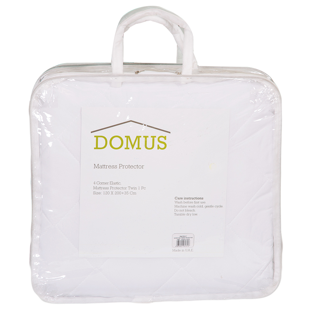 DOMUS: Twin Mattress Protector With Elastic Band; 1Pc 120×200+35cm 1