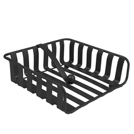 Iron Napkin Holder; (18x18x7)cm, Black 1
