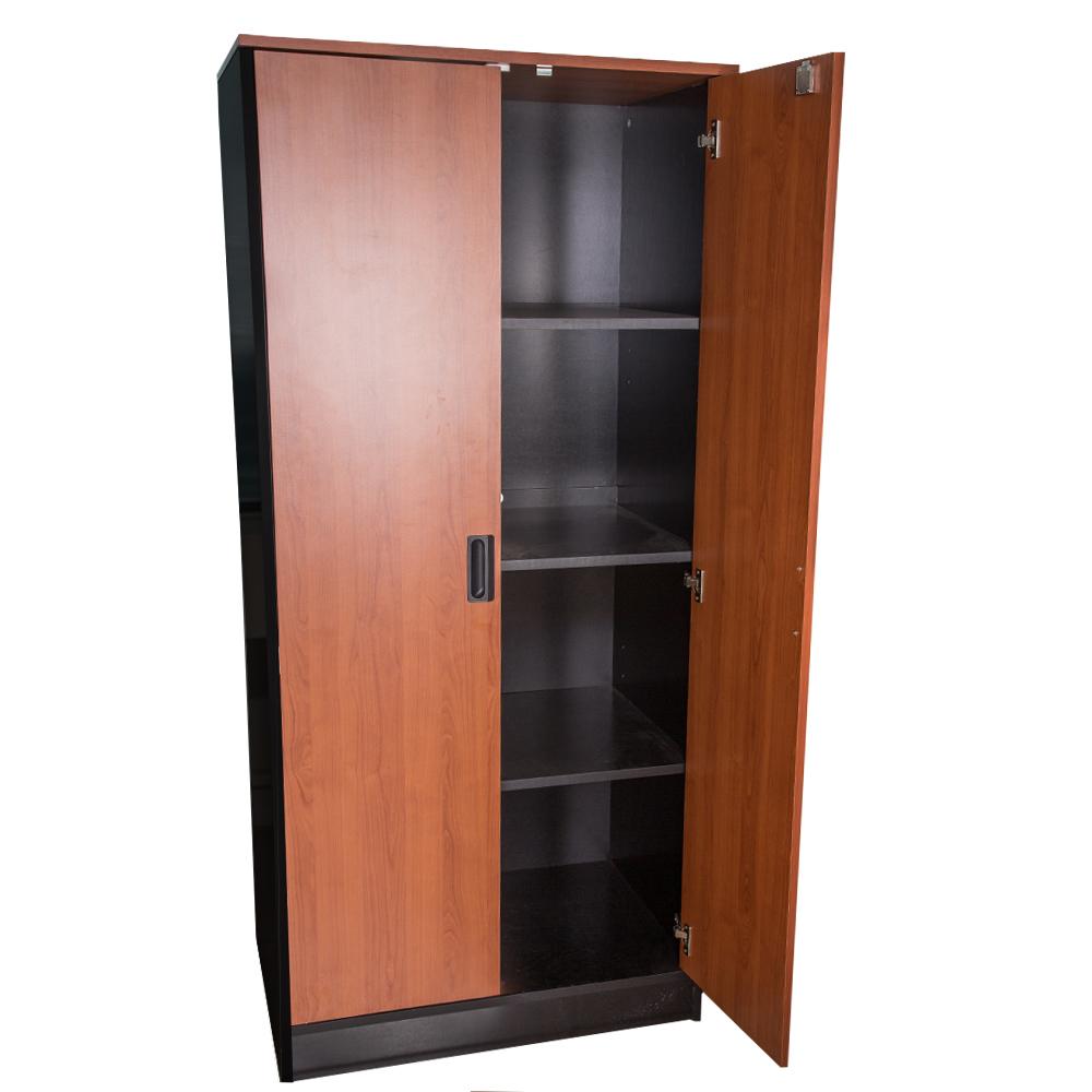 MEX : Filing Cabinet, 80x56x175cm : Cherry/Black #FC1751