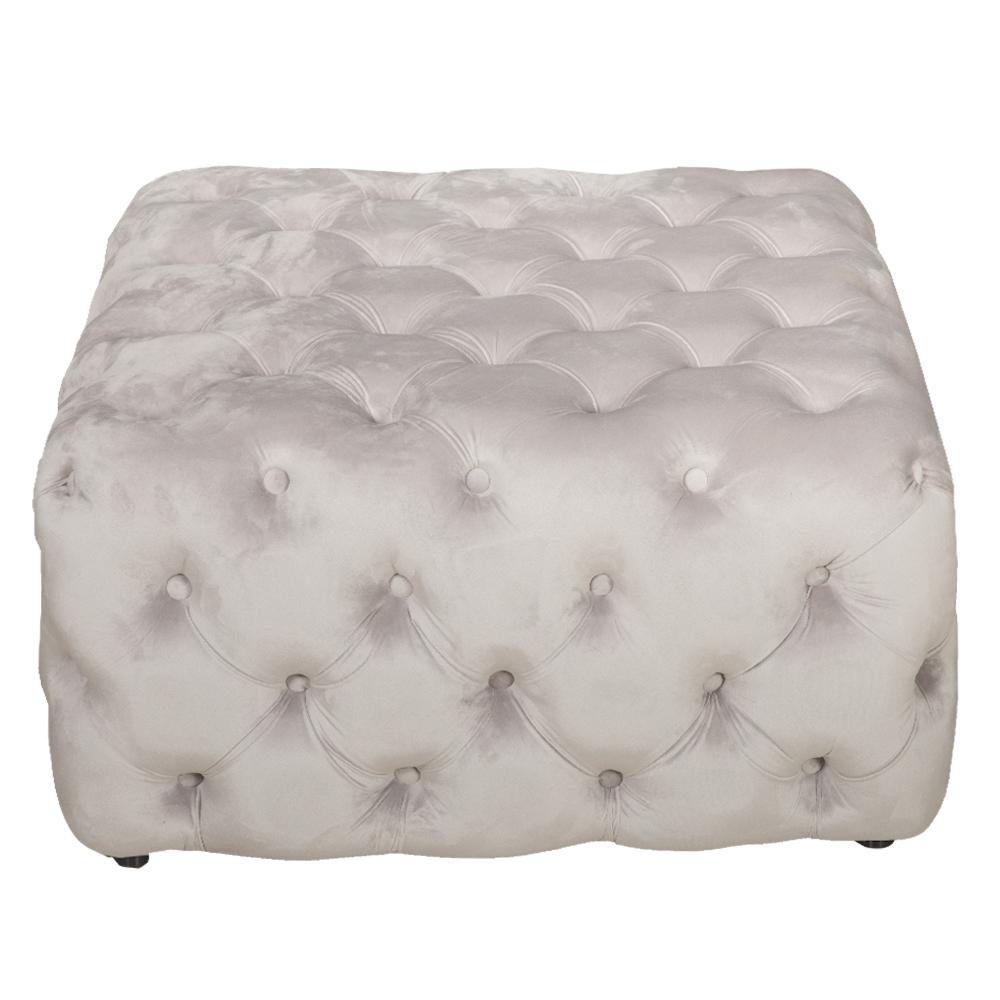 Snowy: Fabric Square Ottoman; 80x80x40cm #SF-S033 1