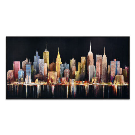 Oil/Printed Painting With Frame: (140x70x3