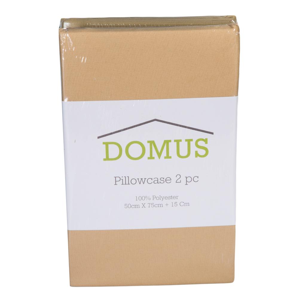 DOMUS: Pillow Case Set- Microfiber: 2pc: 50×75+15cm 1
