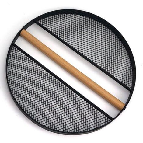 Wood/Iron Round Trivet; 20cm, Black 1