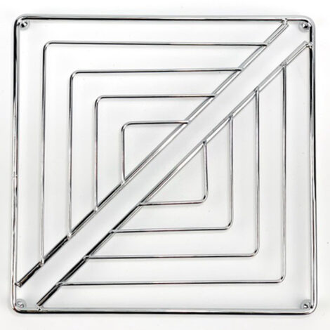 Iron Square Trivet; (20x20x1