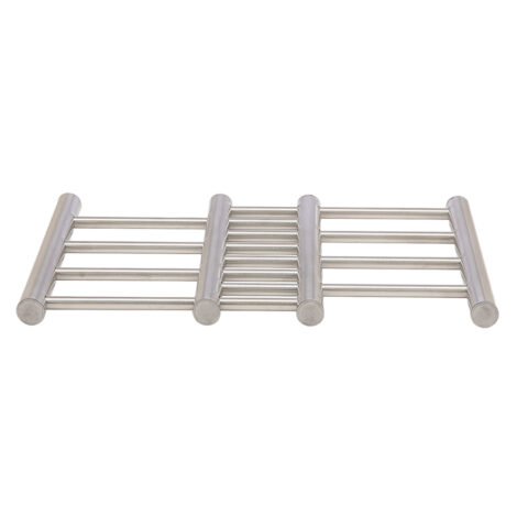 Nelison Extendable Steel Pot Stand, (22.7x20x1.9)cm, Silver