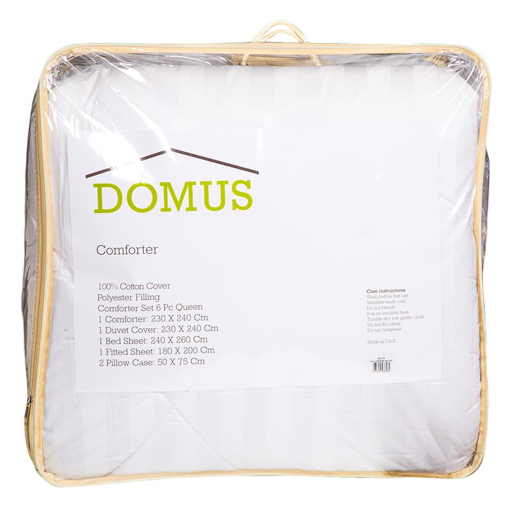 DOMUS: Queen Comforter Set 6pc: 250TC-2