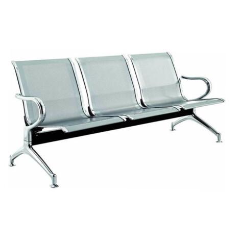 Waiting Chair : 3-Seater : (180x67x79)cm, Silver 1