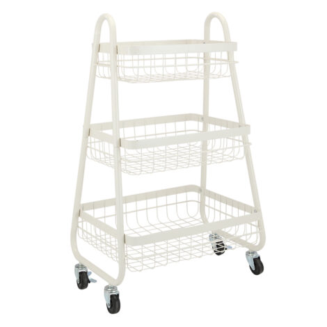 Lupe 3 Tier Storage Cart; (38.6×37