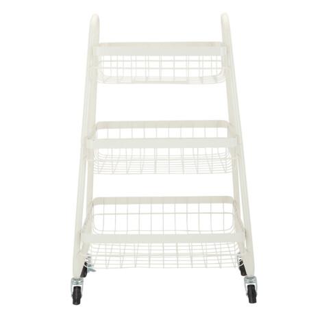 Lupe 3 Tier Storage Cart; (38.6x37.6x81)cm, White