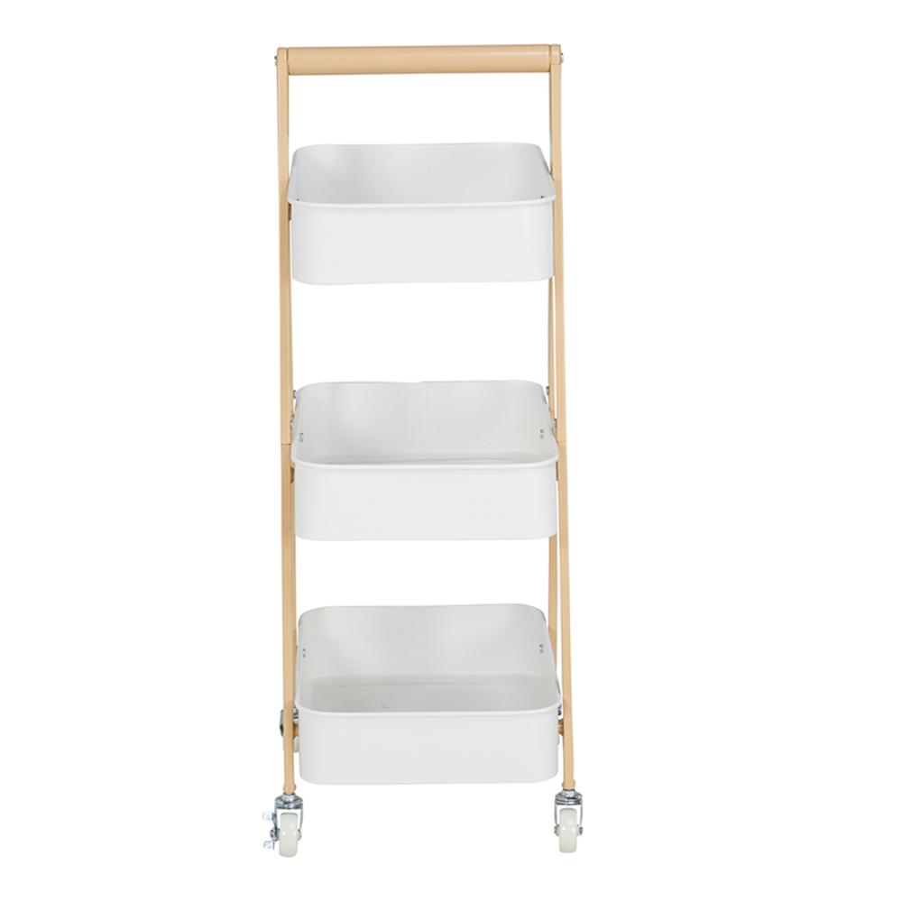 Index: Lupel 3-Tier Storage Cart; 38.5x30.5x89cm #170115633