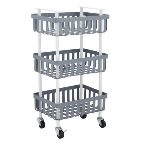 Luppio 3-Tier Storage Cart; (40×27.8×75