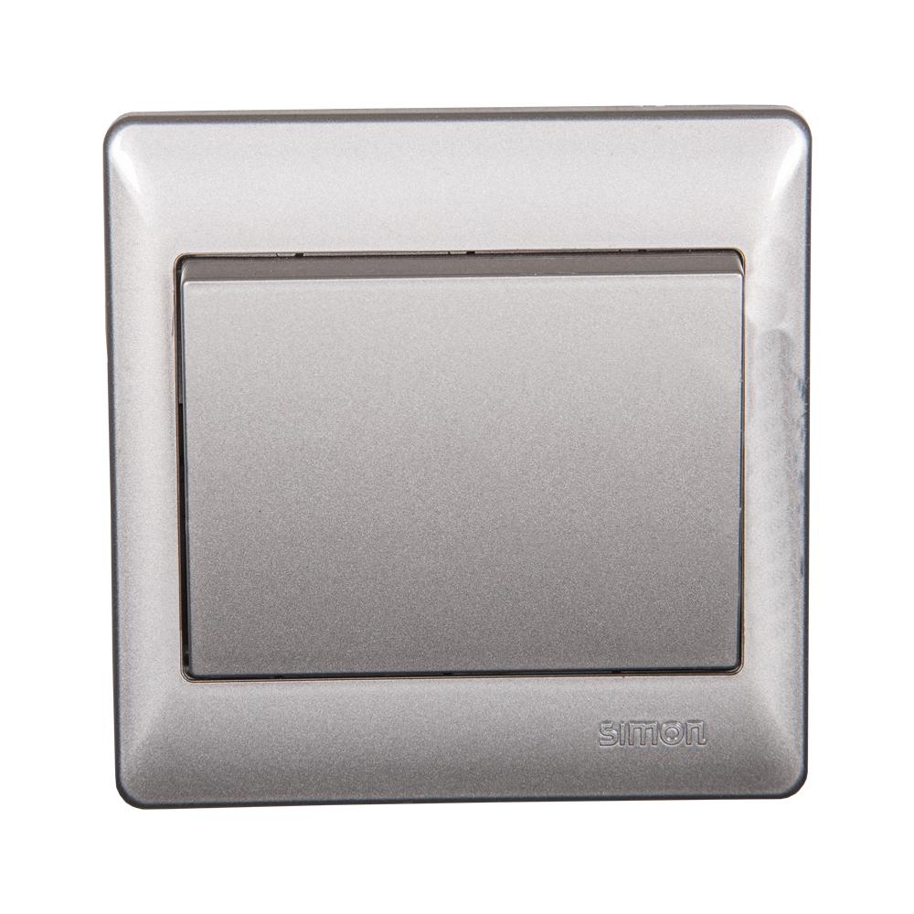 SIMON Switch, 1-Gang 2-Way, Silver #51012BS 1