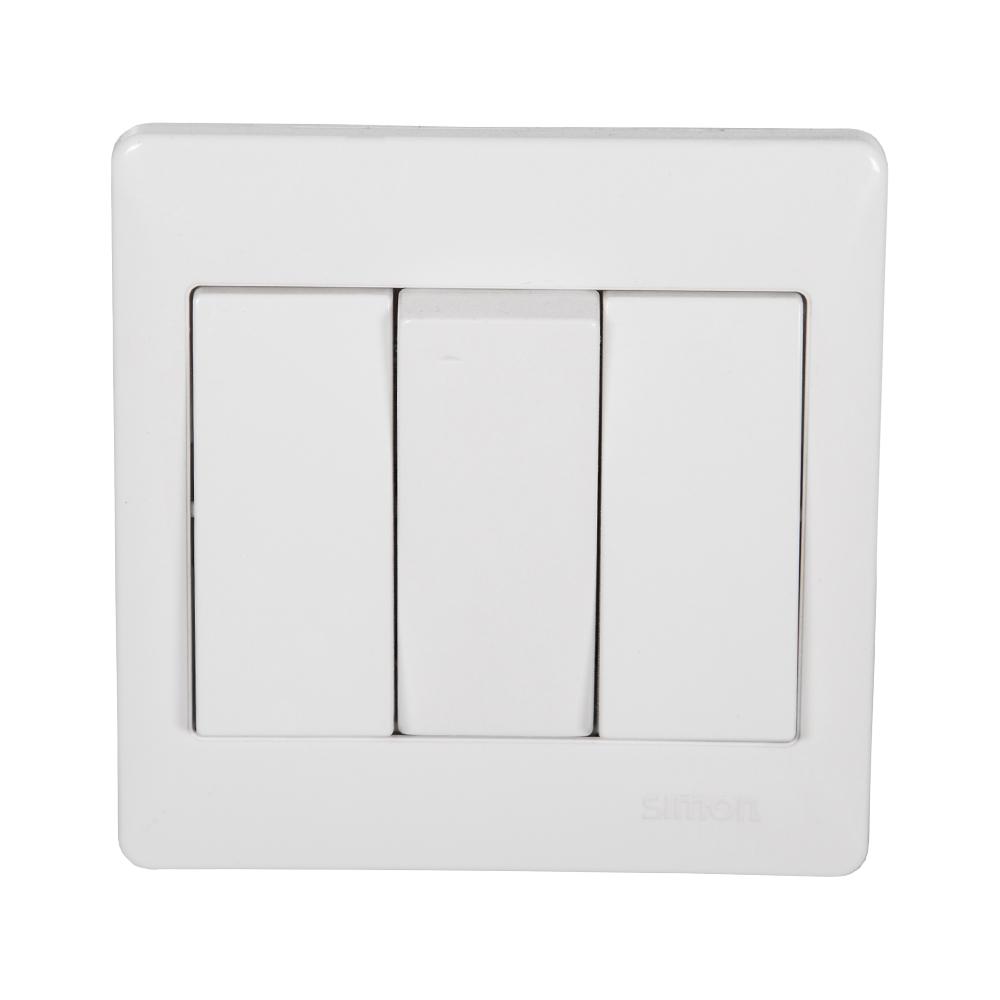 SIMON Switch, 3-Gang 2-Way, White #51032B 1