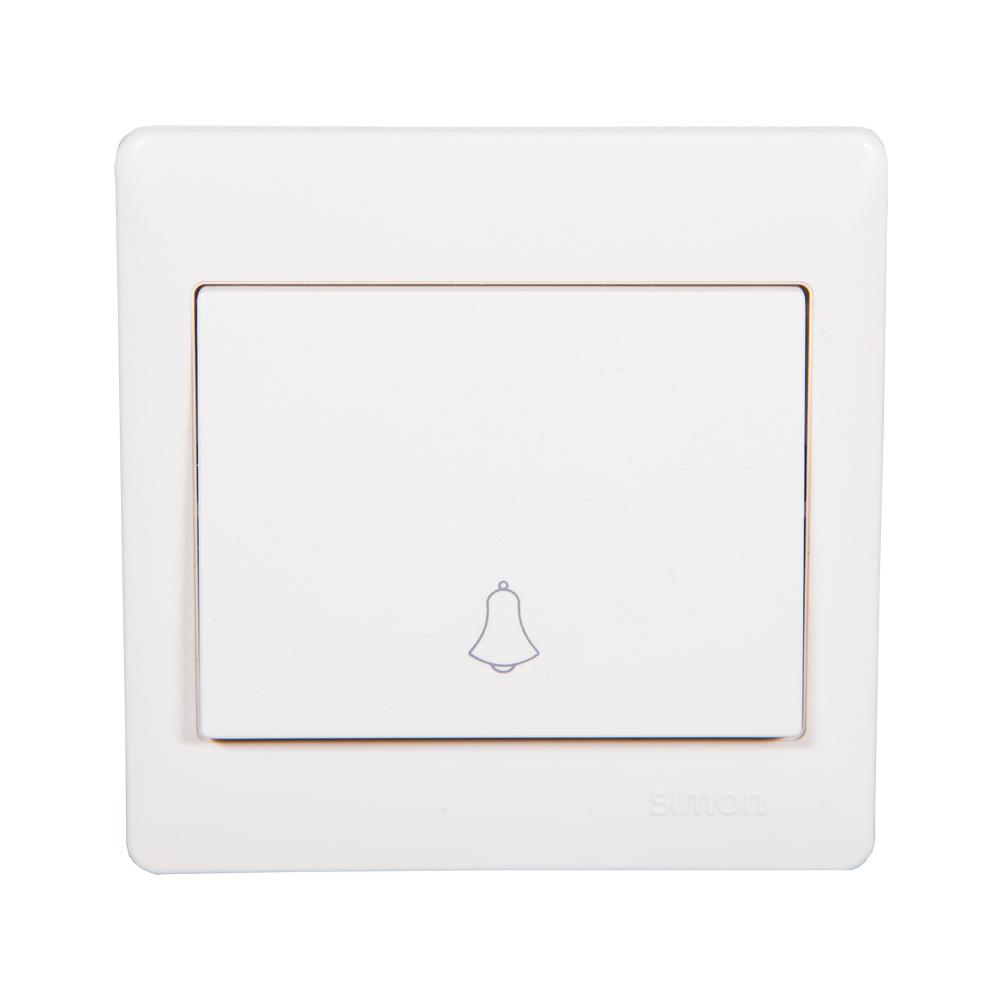 SIMON Bell Push Button Switch, White #56301B 1