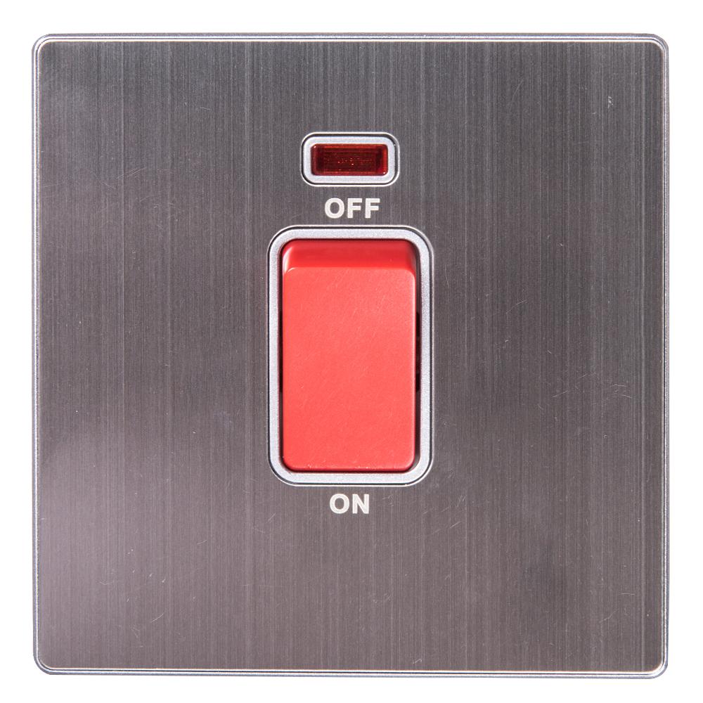 Domus: 1 Gang 32A DP Switch with Indicator; 32A,250V #Q5B1K/2J-32 1