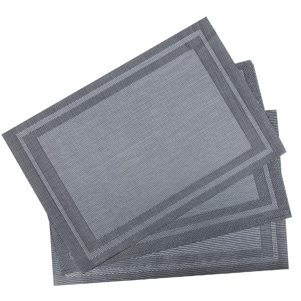 PVC Table Mat Set: 4pc, 45x30cm #ST010042