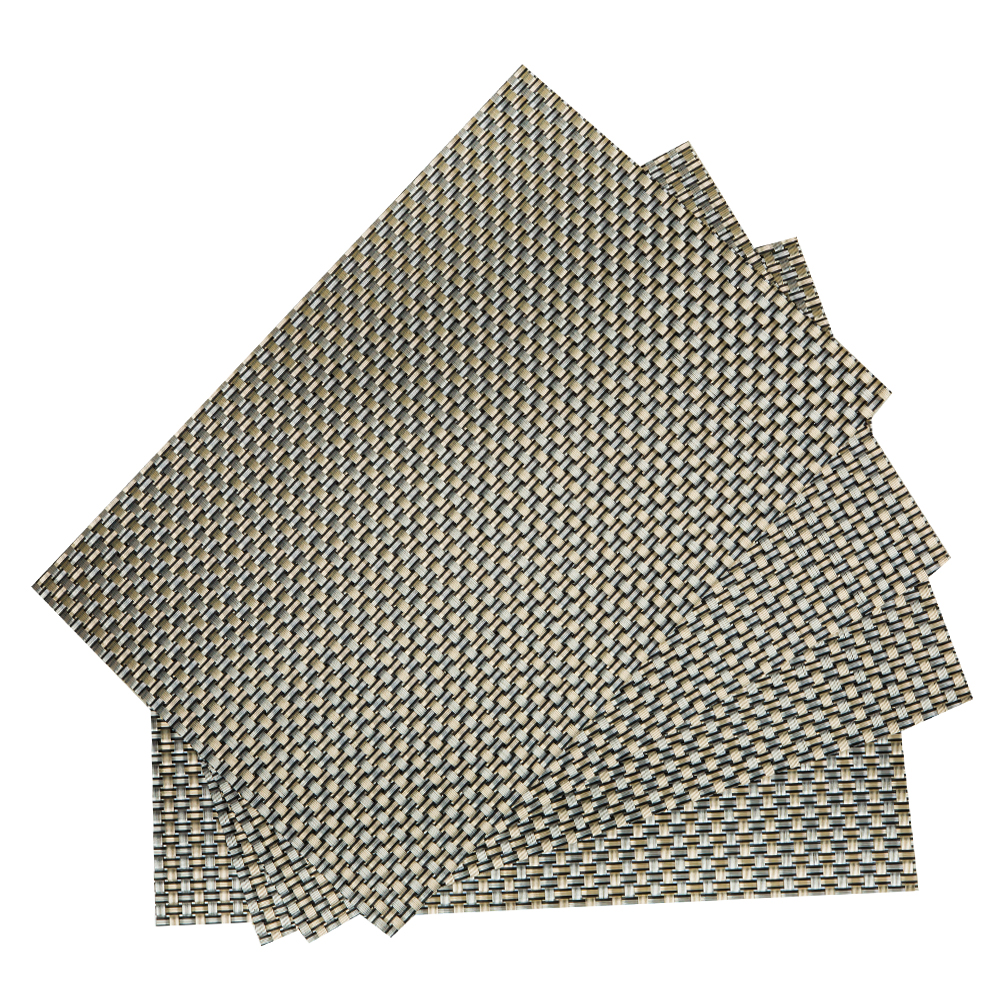 PVC Table Mat Set: 4pc, 45x30cm #ST880076