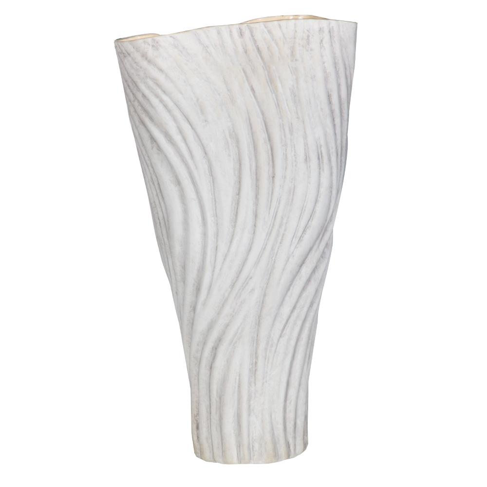 WISDOM: Ceramic Vase: 26x26x45cm Ref
