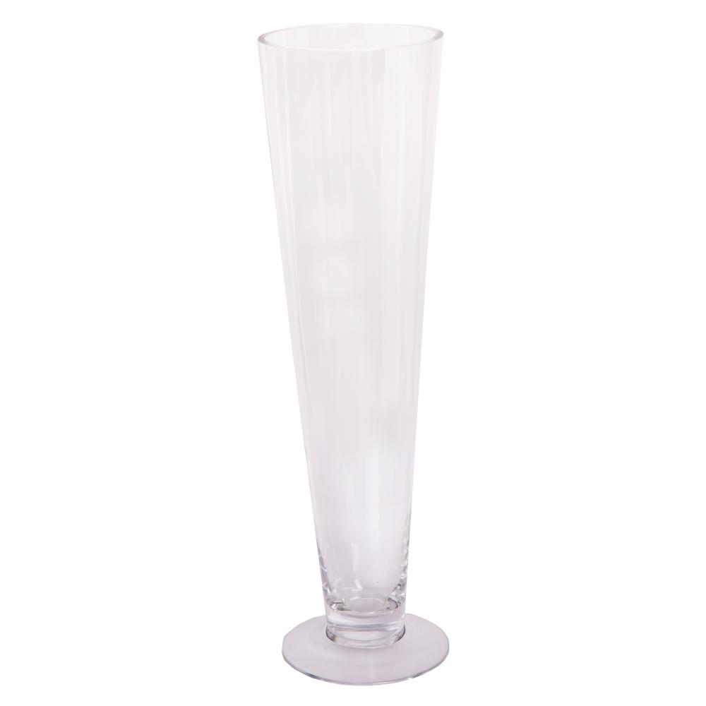 Domus: Clear Glass Vase: Long Neck; 11cm #KC115 1