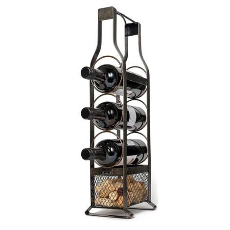 Iron Wine Rack; (18×10.5×50