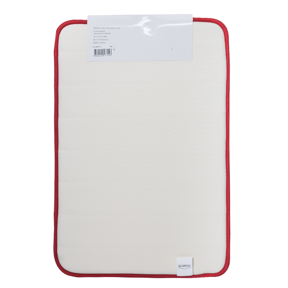 Domus Coral Fleece Memory Foam Bath Mat: 60x40cm